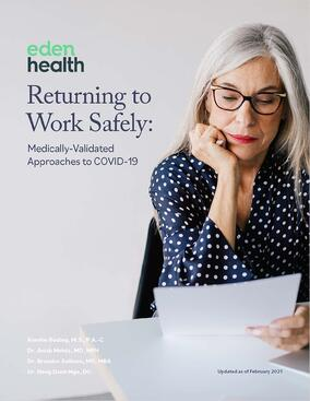 Return To Work Safely With Eden Health's Medically Validated Approach